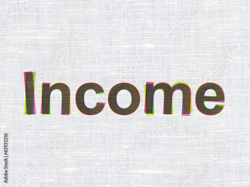Finance concept: Income on fabric texture background