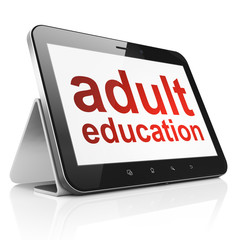 Education concept: Adult Education on tablet pc computer