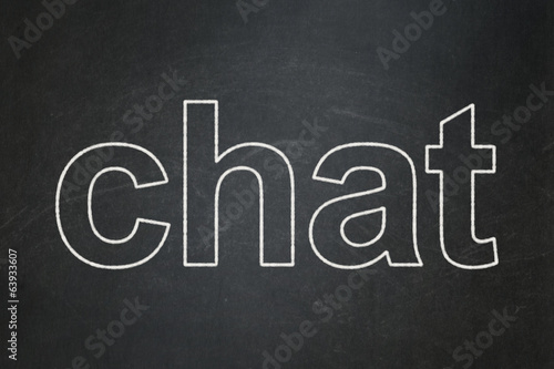 Web design concept: Chat on chalkboard background