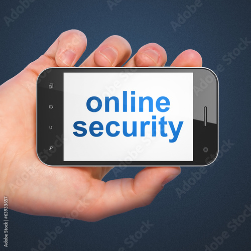 Privacy concept: Online Security on smartphone