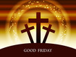 Religious background design for Good Friday.