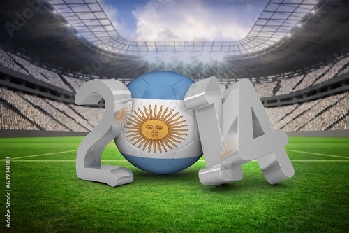 Composite image of argentina world cup 2014