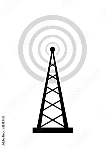 Black transmitter icon on white background