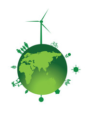 Wind turbine and planet