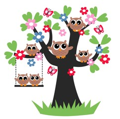 owls family tree picture