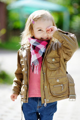 Adorable girl portrait outdoors