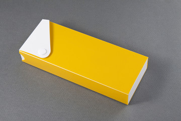 Pencil Box on Gray Background.