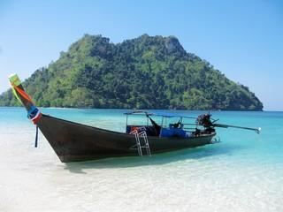 Wooden boat, summer, Thailand
