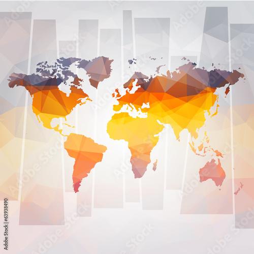 Fototapeta samoprzylepna modern concept of world map vector