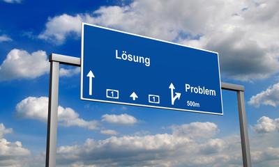 Autobahnschild Lösung