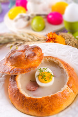 Sour rye soup
