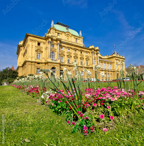 Croatian national theatre square in Zagreb