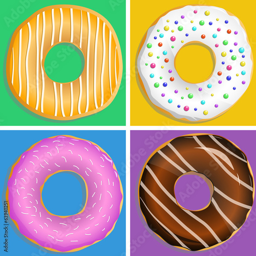 donut, vector illustration