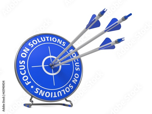 Focus on Solutions Concept - Hit Target.