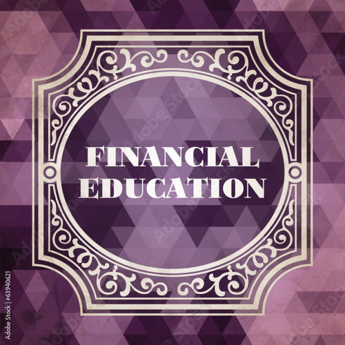 Financial Education Concept. Vintage design.
