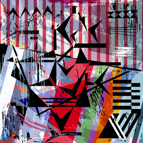 abstract design,strokes, splashes, stripes and triangl