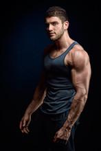 athlétique jeune homme portrait