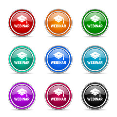 webinar icon vector set