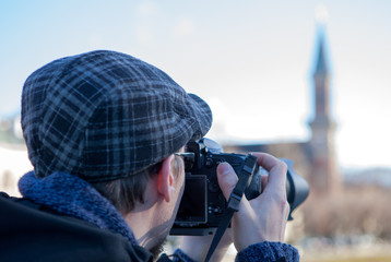 Photographer take picture of a church
