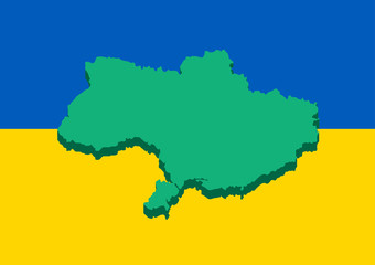 Ukraine flag map