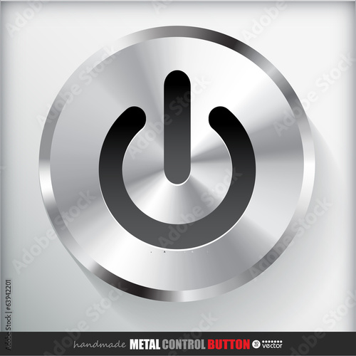 Circle Metal Start Power Button.