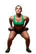 Female exercies with free weights