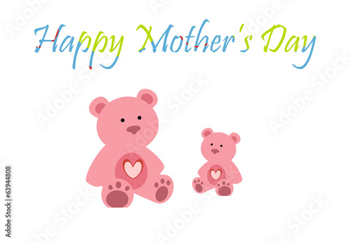 Mother's Day Teddy Greeting