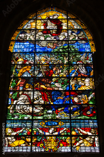 Stained window of the cathedral of Seville