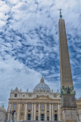 Spectacular view of st. Peter in Vatrican, Rome