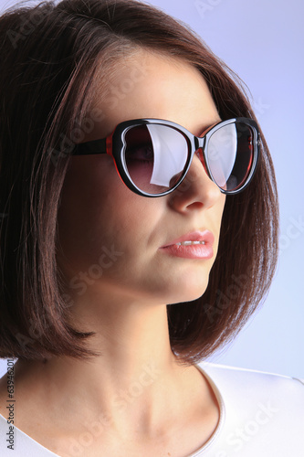 portrait of girl in sunglasses