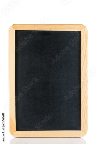 empty blackboard isolated