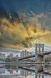 Brooklyn Bridge with beautiful sky