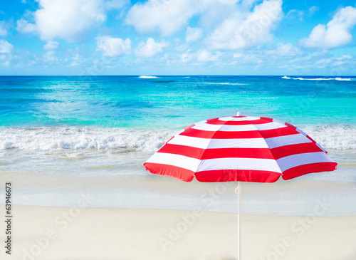 Beach umbrella by the ocean