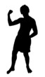 Teen Boy Silhouette Showing Muscles