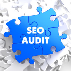 SEO Audit on Blue Puzzle.