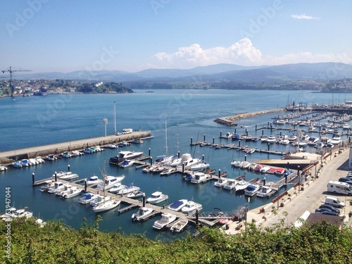 View of seaport of Ribadeo in Galicia, Spain
