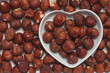 Hazelnut in heart shaped tray