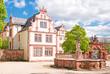 Das Friedberger Schloss mit Georgsbrunnen