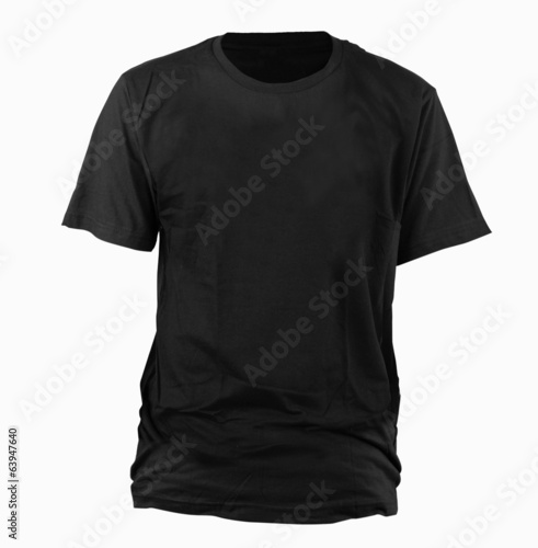 Black t-shirt template - 63947640
