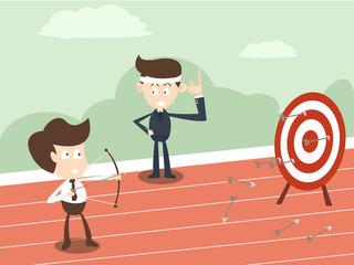 business man coaching concept