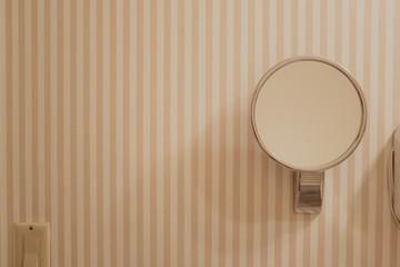 bathroom mirror on wall
