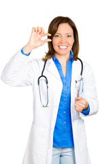 Doctor gesture an ounce of prevention is a pound of cure