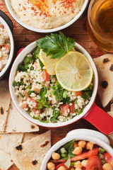 Tabbouleh, middle east salad with bulgur pasta
