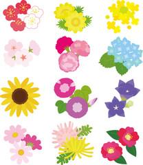 12か月の日本の花