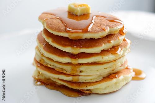 Foto op Plexiglas Kruidenierswinkel Pancakes