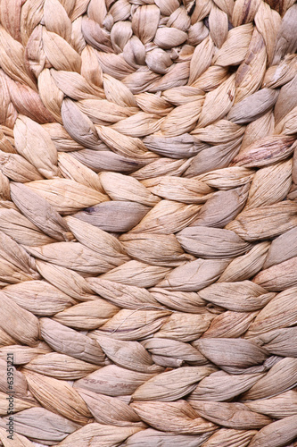 Pattern of wicker mat