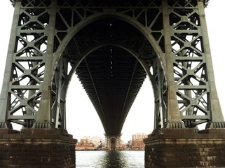 Base of the pillar of Williamsburg Bridge
