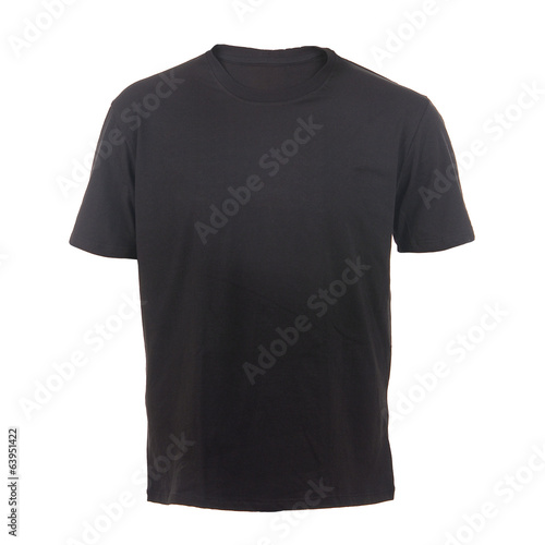 black T-shirt on a white background