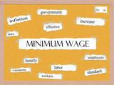Minimum Wage Corkboard Word Concept poster