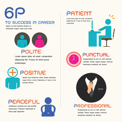 success to career, infographic.